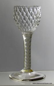 Opaque twist Wine Glass C 1760/65