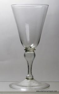 Rare 17th C Wine Glass C 1680/90