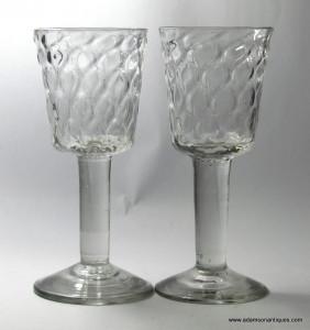 A Pair of Large Plain Stem Goblets C 1740/50