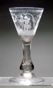 "Rare ""Four Seasons"" Goblet C 1750/60"