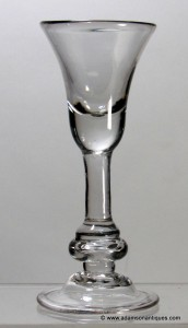 Baluster Short Wine or Cordial Glass C 1720/30