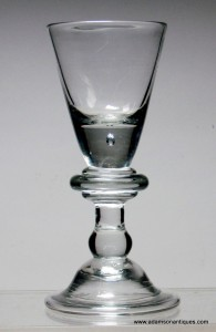 Heavy Baluster Wine Glass C 1710/15