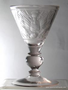"""Large Engraved """"Trichterpokal """" Goblet C 1690/1700"""