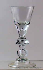 Heavy Baluster Drop Knop Wine C 1715/20