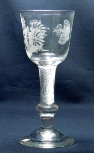 Composite Stem Jacobite Goblet c1750
