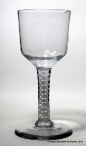 Georgian Opaque Twist Goblet C 1765