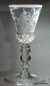 Bohemian Engraved Goblet c1680/90