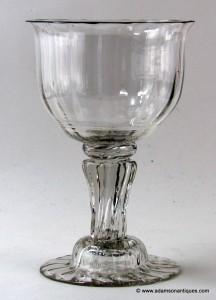 Large Pedestal Stem Goblet C 1750
