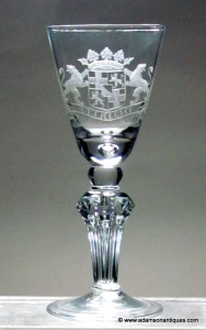 Early Pedestal Stem Goblet 1710/20