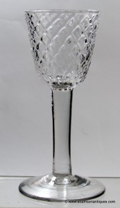 Diamond Moulded Plain Stem Large Wine/Small Goblet C1740