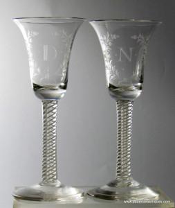 Mixed Twist Wine Glasses C 1765/70