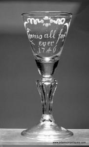 Rare Electioneering Wine Glass C 1746