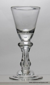 Rare Baluster Wine Glass C 1710/15