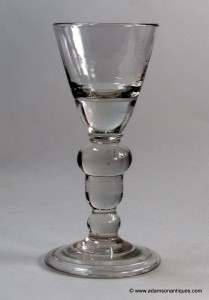 Heavy Baluster Acorn Knop Wine Glass 1700/1710