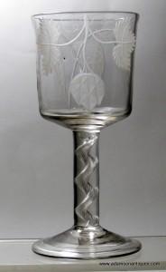Rare Bucket Bowl Ale goblet C1745/50