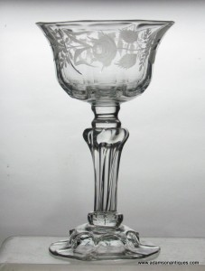 Jacobite Champagne Glass C 1750/60