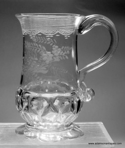 Engraved Pint Tankard With Nipt Diamond Waies C 1750/60