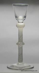 Rare Opaque Twist Cordial Glass C 1760/65