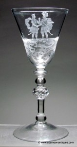 David and Jonathan Light Baluster Goblet C 1750