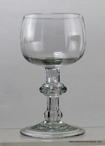 dating antique wine glasses