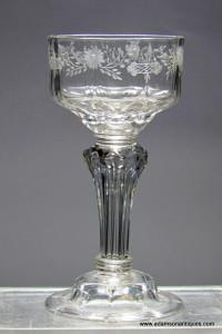 Pedestal Stem Champagne Glass C 1740/45