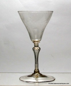 French Facon de Venise Wine Glass C 1710/20