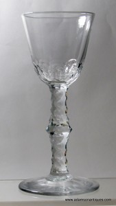 Large facet Stem Wine Glass C 1770/80