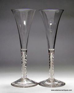 Mixed Twist Wine Flutes C 1760/65
