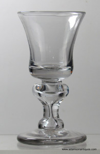 Rare Heavy Baluster Dram Glass C 1700/10