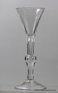 Tall Balustroid Wine Glass C 1740/45