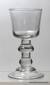 Rare Heavy Baluster Drop Knop Dram/Small Wine Glass C 1710/15