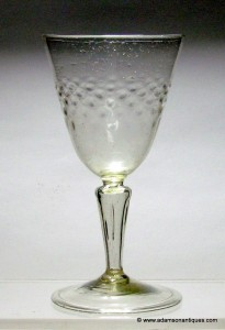 "French ""Facon de Venise"" Wine Glass C 1720/40"
