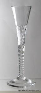 Opaque Twist Ratafia Glass C 1760/65