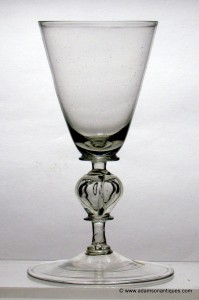 Very Rare Quatrefoil Wine Glass C 1680
