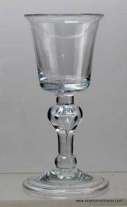 Rare Baluster Wine Glass C 1715/25