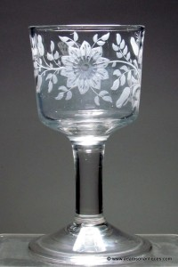 "Plain Stem ""Jacobite"" Goblet. C 1745/55"