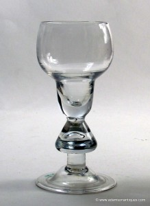 Heavy Baluster Wine Glass C 1710