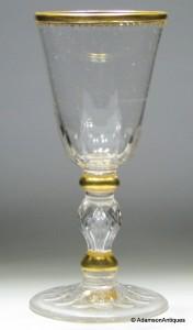 A Fine Potsdam/Zechlin Gilded Goblet c1750