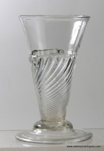 Rare Domed Foot Gadrooned Ale Glass C 1725/30