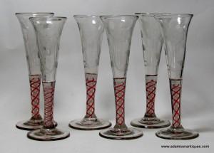 Jacobite Ale/Wine Flutes C 1765