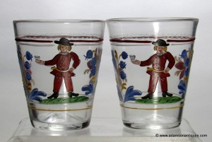 Pair of polychrome enameled tumblers C1780