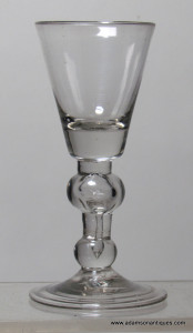Baluster Dram or Small Wine Glass C 1715/20