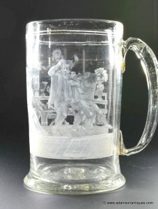 German Engraved Beer Tankard c1750