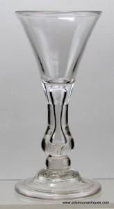 Rare Baluster Wine Glass C 1710/15
