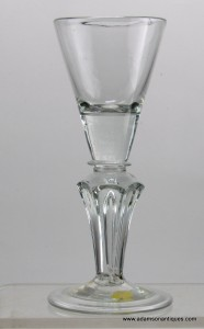 Pedestal stem Wine Glass C 1720/25