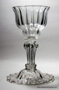 Large Moulded Pedestal Stem Goblet C 1740/50