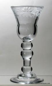 Heavy Baluster Wine Glass C 1720/25