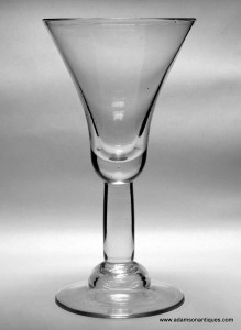 Very large Plain Stem Goblet C 1720/25