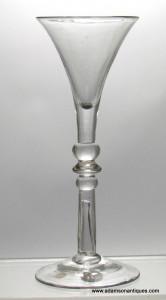 Rare Balustroid Wine glass C 1740/50